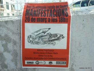 Basta de represión y recortes del Gobierno Balear Por una educación de calidad para nuestros hijos e hijas